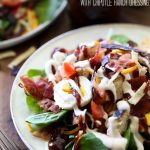 BBQ Chicken Salad with Chipotle Ranch Dressing from chef-in-training.com …This will be one salad you won't be able to forget and will have to make over and over again!