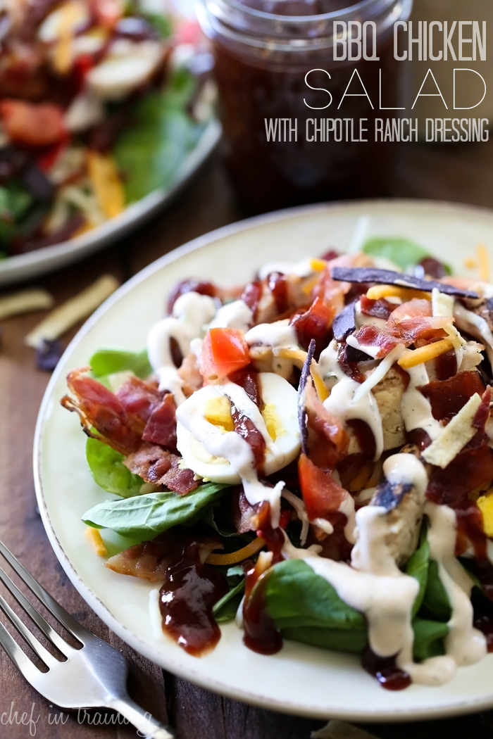 BBQ Chicken Salad with Chipotle Ranch Dressing from chef-in-training ...