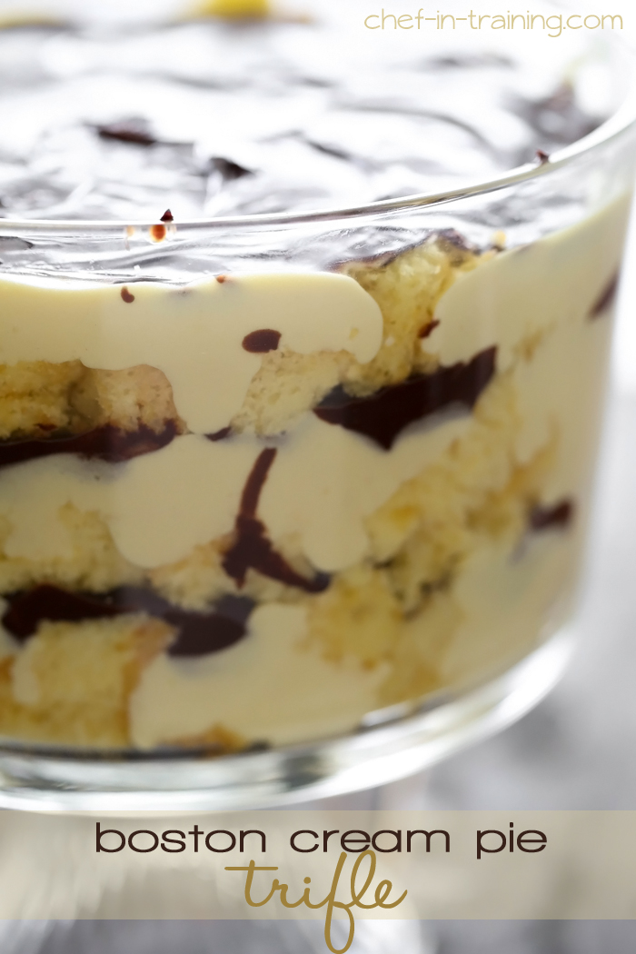 Pie Trifle from chef-in-training.com …If you love boston cream pie ...