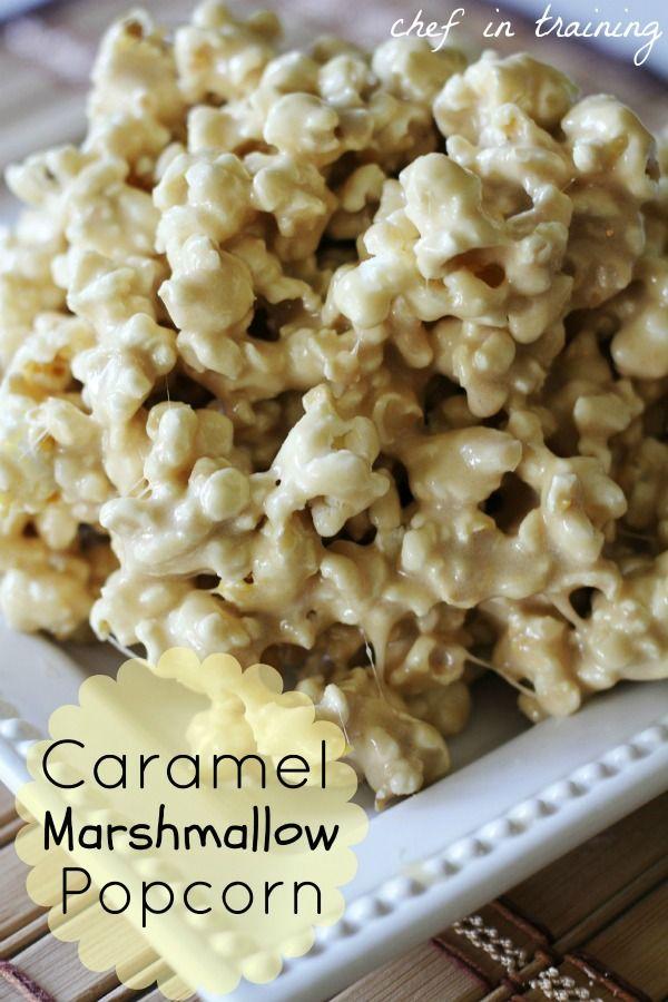 Caramel Marshmallow Popcorn from Chef in Training