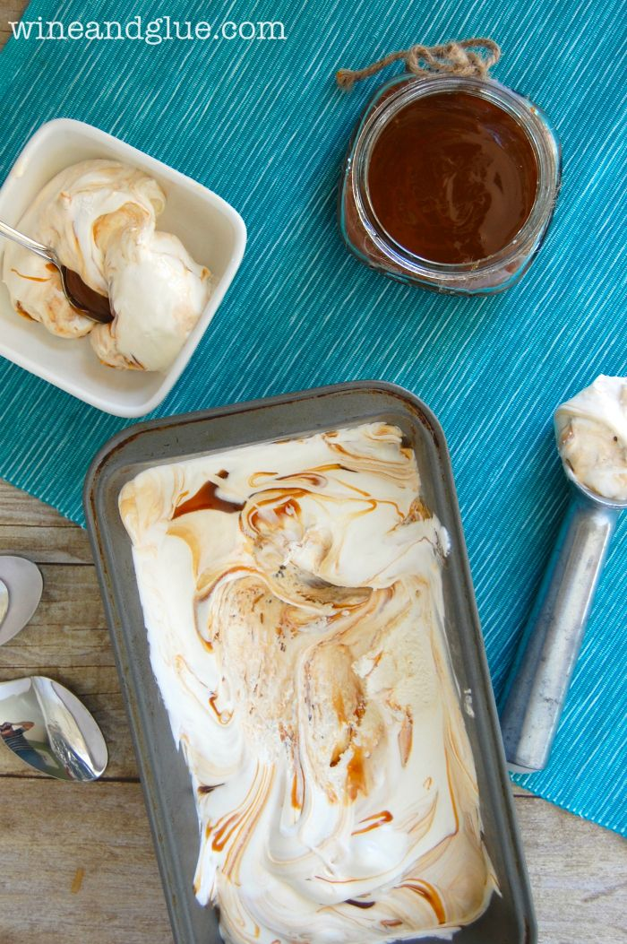 No Machine Caramel Swirl Ice Cream