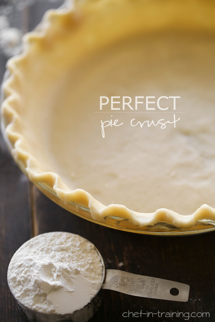 Perfect Pie Crust recipe from chef-in-training.com …This crust is ...