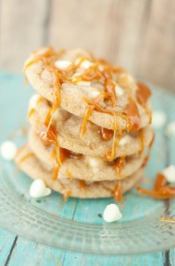 White Chocolate Caramel Brown Butter Cookies