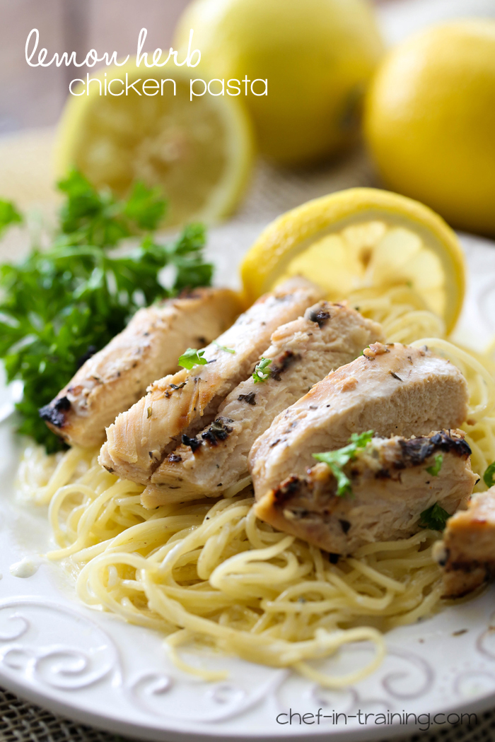 Lemon Herb Chicken Pasta from chef-in-trainign.com ….This meal ...