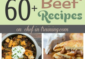 60+ Beef Recipes at chef-in-training.com …So many unique and tasty recipes to choose from!