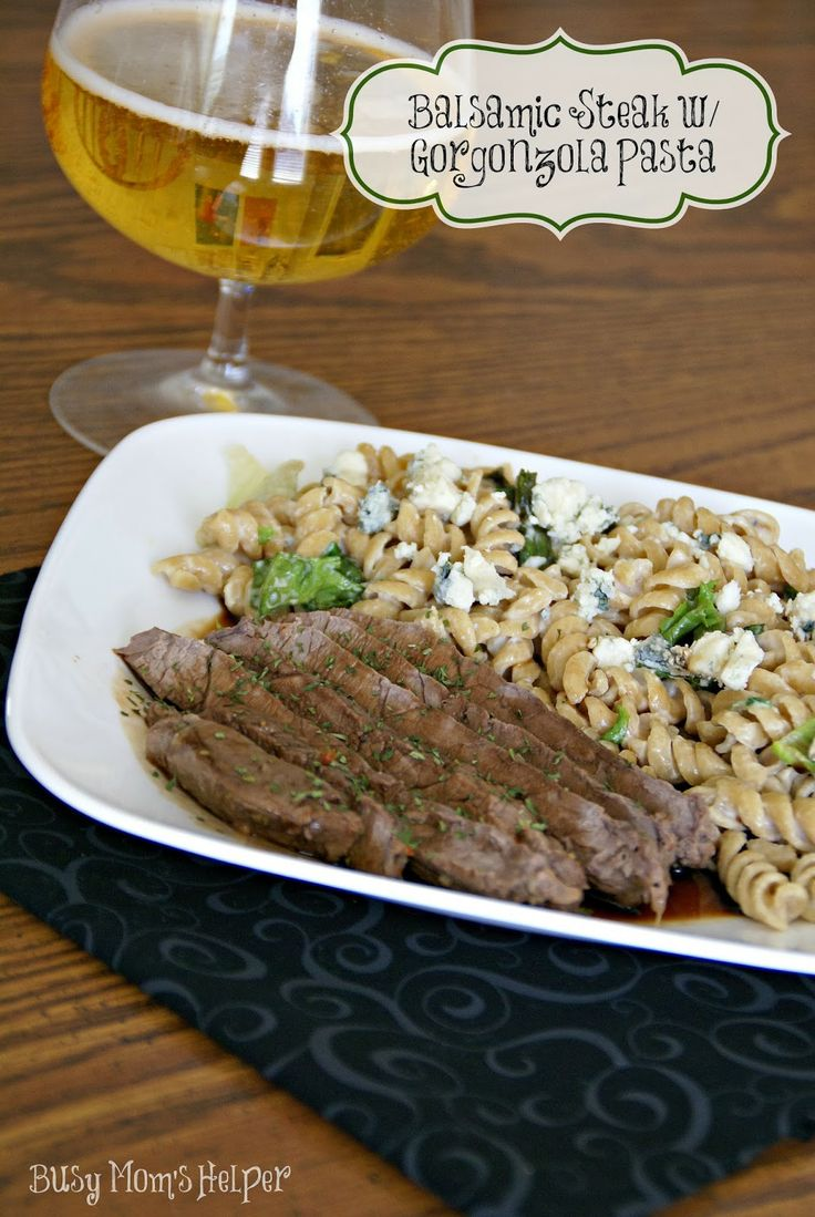 Balsamic Steak with Gorgonzola Pasta