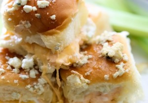 Buffalo Chicken Sliders from chef-in-training.com …These are a crowd pleasing dinner for sure! So much flavor and SO easy to make!