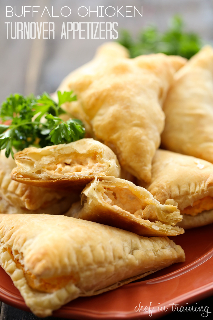 Buffalo Chicken Turnover Appetizer Puffs from chef-in-training.com ...