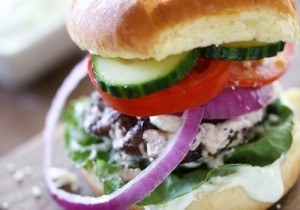 Greek Stuffed Burgers from chef-in-training.com …Greek Salad meets burger and the result is AMAZING! Seriously, once you try stuffed burgers there is no going back!