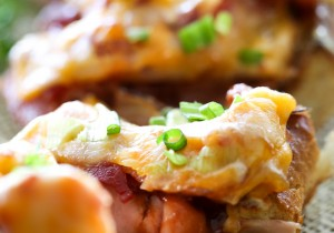 Man Pleasing BBQ Bacon Ham French Bread Pizza… This recipe is beyond delicious!