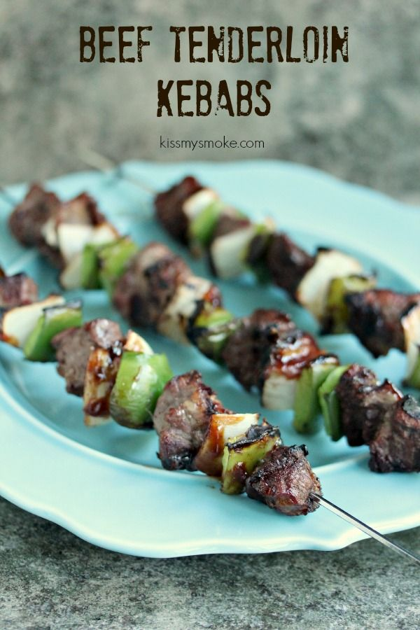 Tenderloin Kebabs with Green Pepper and Onion