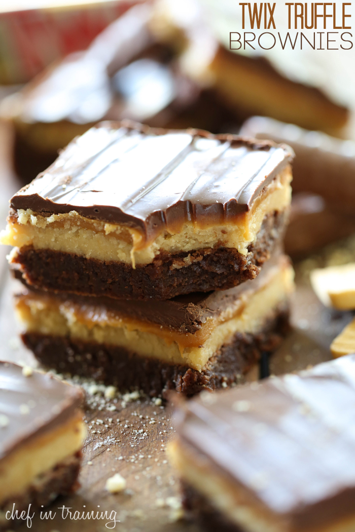 Twix Truffle Brownies from chef-in-training.com …Fudgy brownies ...