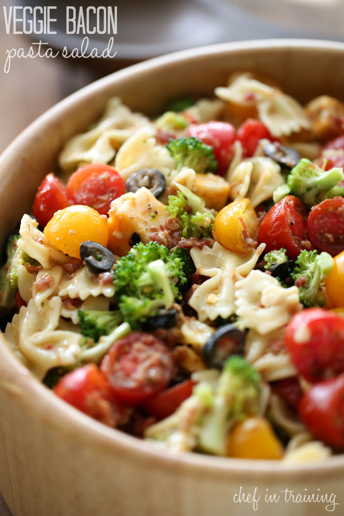 Veggie Bacon Pasta Salad from chef-in-training.com …This is a ...