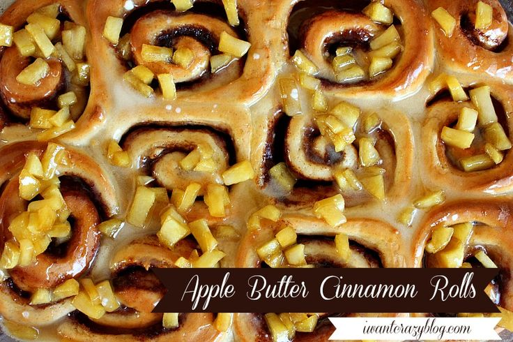 Apple Butter Cinnamon Rolls