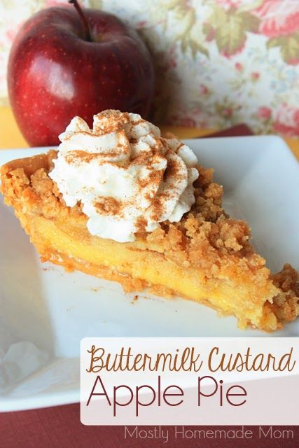 Apple Custard Pie Recipe — Dishmaps