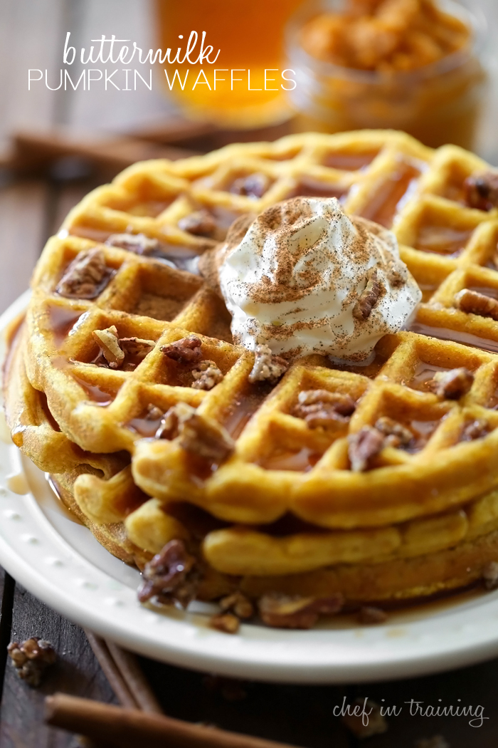 Buttermilk Pumpkin Waffles | Chef in Training