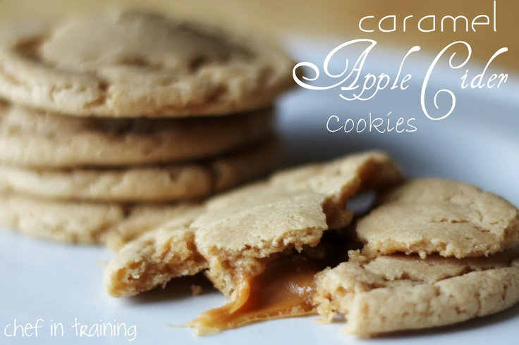 Caramel Apple Cider Cookies from Chef in Training