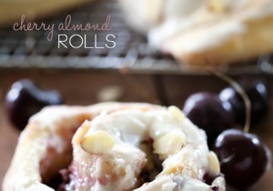 Cherry Almond Rolls from chef-in-training.com ...This flavor combo is INSANELY delicious! You will want to make this recipe again and again- it is THAT good!