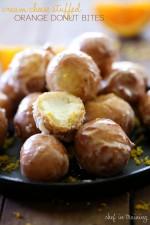Cream Cheese Stuffed Orange Donut Bites