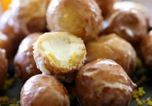 Cream Cheese Stuffed Orange Donut Bites. from chef-in-training.com ...These are absolutely heavenly! The cream center with a hint of orange makes this dessert irresistible! They are amazing!