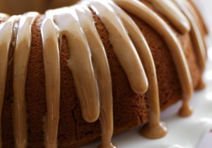 Pumpkin Bundt Cake with Caramel Drizzle from chef-in-trianing.com ...This cake is so moist and the caramel drizzle is SO delicious! The perfect flavor combo!