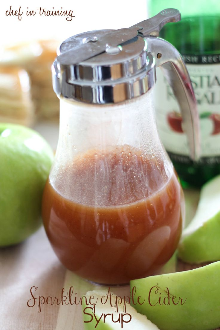 Sparkling Apple Cider Syrup