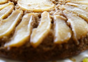 Pear Upside Down Cake from chef-in-training.com …This cake is quick, easy and absolutely delicious! It melts in your mouth!