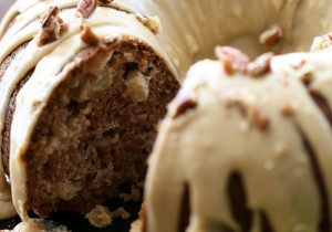 Apple Bundt Cake with Caramel Frosting... a delicious fall treat with a great caramel apple flavor!