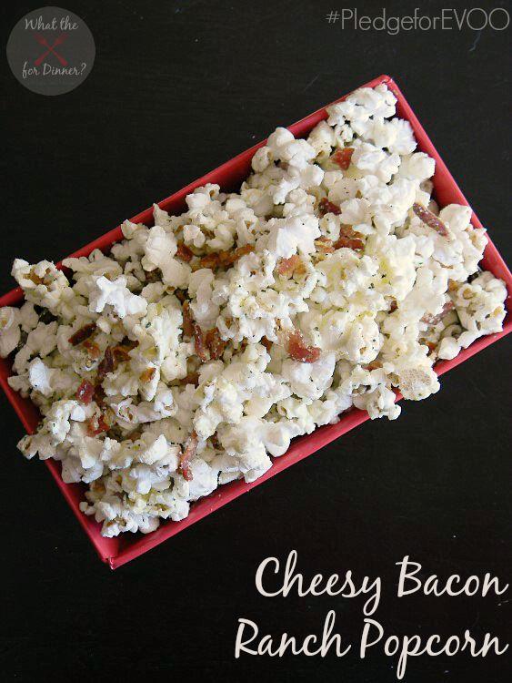 Cheesy Bacon Ranch Popcorn