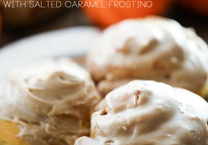 Cream Cheese Filled Pumpkin Rolls with Salted Caramel Frosting... These are fantastic! The filling really makes them unique and the frosting is the perfect topping and really adds to the delicious flavor!