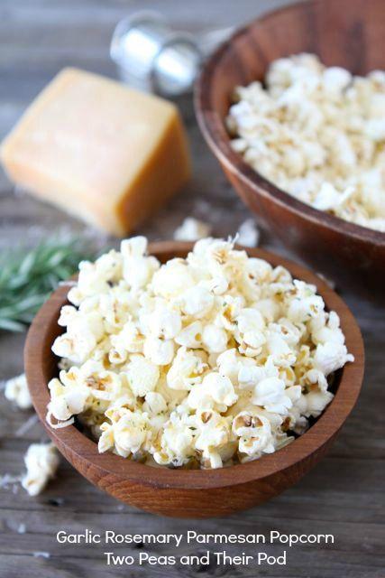 Garlic Rosemary Parmesan Popcorn
