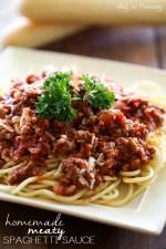 Homemade Meaty Spaghetti Sauce