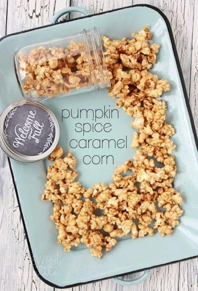 Pumpkin Spice Caramel Corn