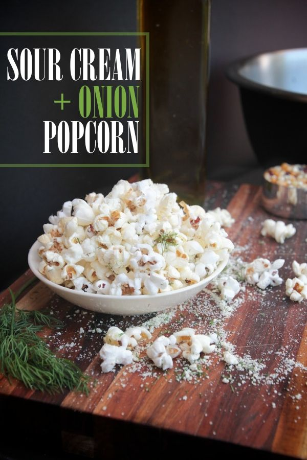 Sour Cream + Onion Popcorn