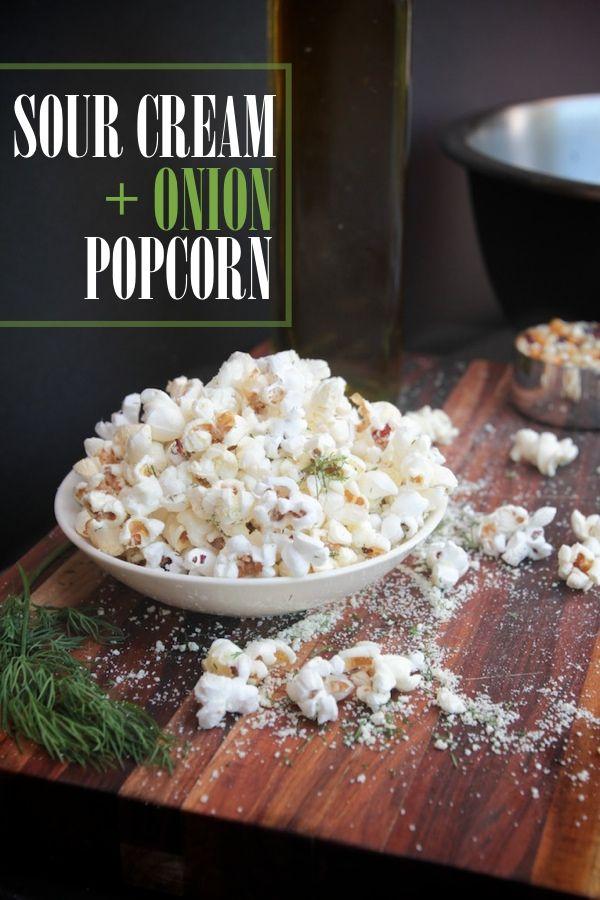 Sour Cream + Onion Popcorn