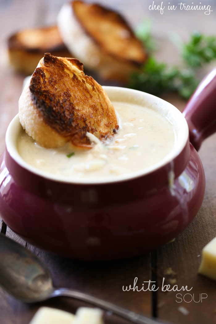 White Bean Soup... this is the PERECT soup for a chilly day! The flavor is amazing!