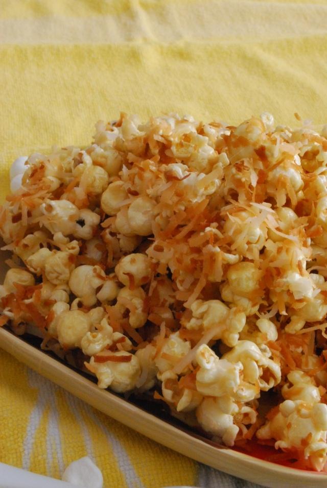 caramel-coconut marshmallow popcorn