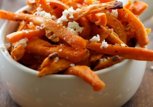 Cotija Sweet Potato Fries from chef-in-training.com ...These will be THE BEST sweet potato fries you will ever eat! They are packed with delicious flavor and are super addictive!