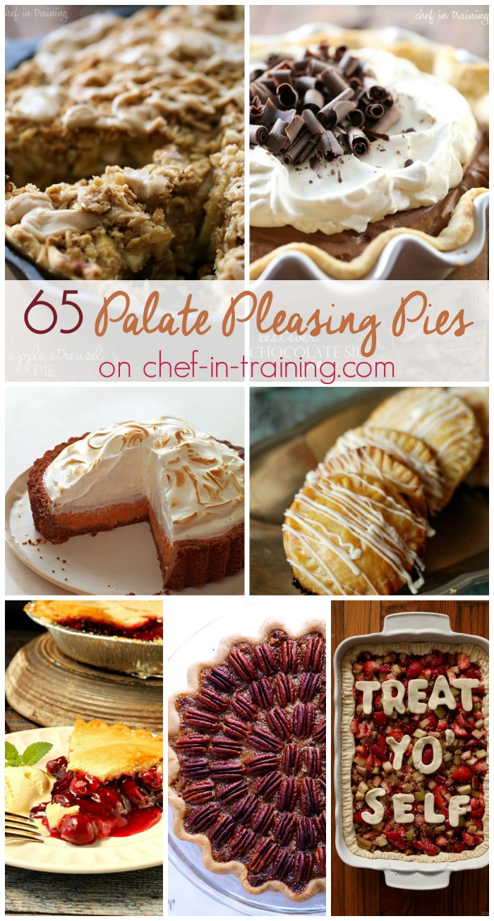 65 Palate Pleasing Pie Recipes... if you are on the hunt for the perfect pie recipe for Thanksgiving, this is your one-stop-shop for anything and everything pie related!