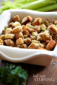Best Ever Stuffing from chef-in-training.com ...This stuffing is so flavorful and delicious! Everyone always raves about this recipe!