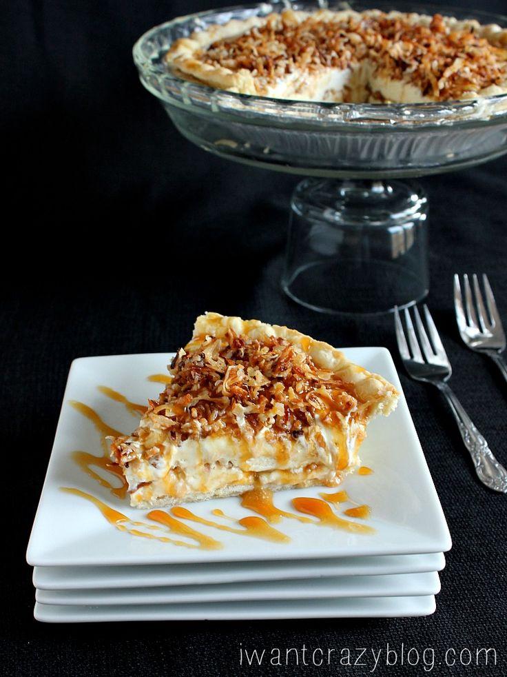 Caramel Coconut Cream Pie