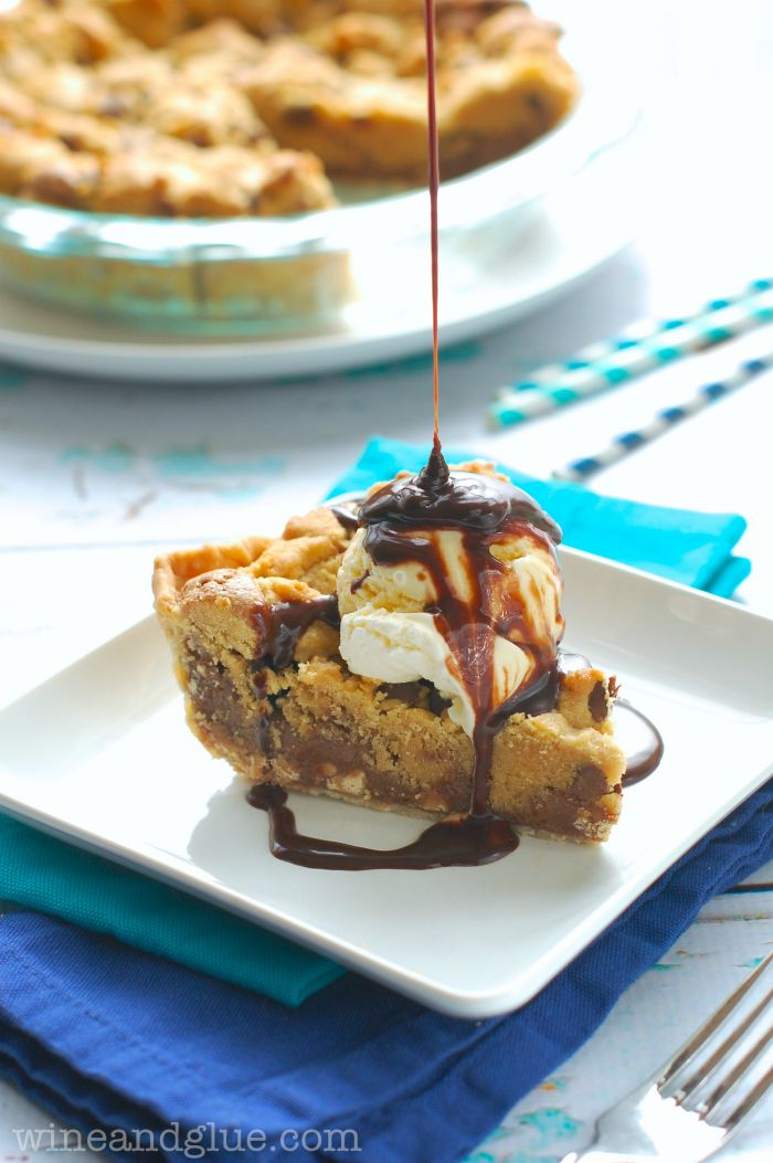 Chocolate Peanut Butter Brookie Pie