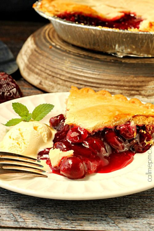 Classic Cherry Pie with Coconut Oil Pie Crust