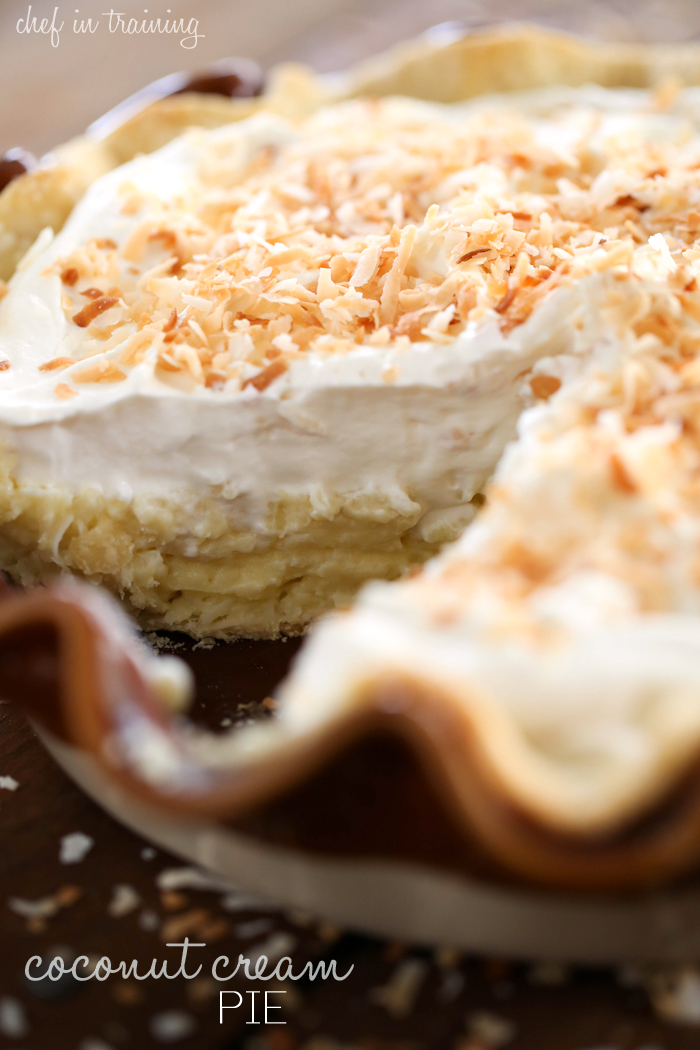 Coconut Cream Pie from chef-in-training.com ...This pie is PHENOMENAL!