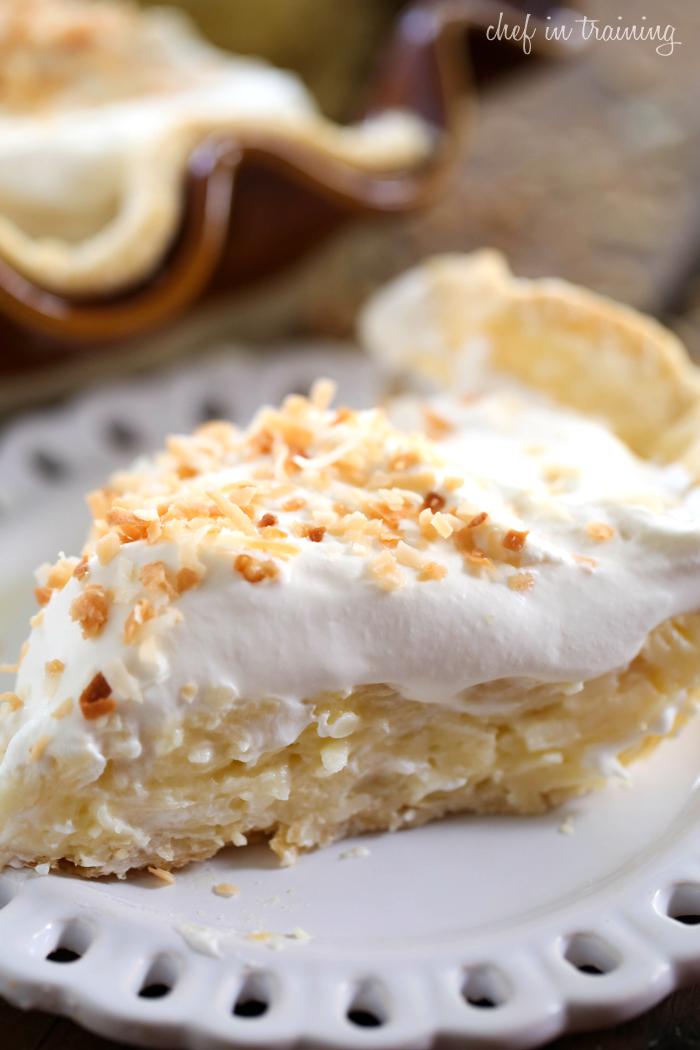 Coconut Cream Pie from chef-in-training.com ...This pie is PHENOMENAL!