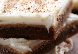 Gingerbread Cookie Bars... gingerbread cookies made easy! Everything you love about gingerbread cookies made into one simple and delicious bar!