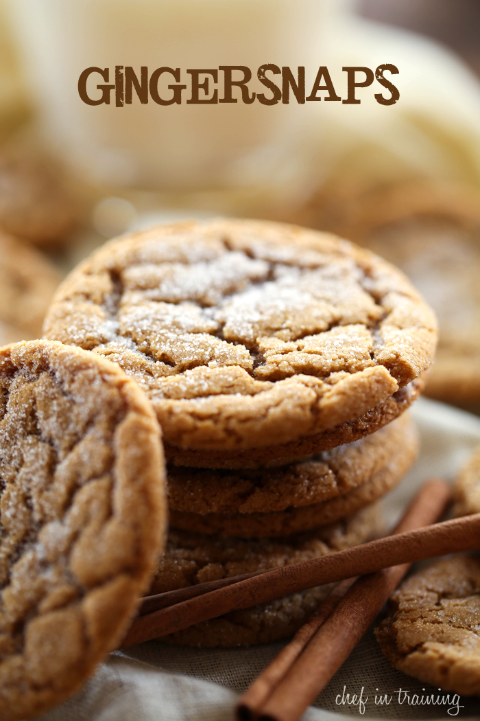 Gingersnaps from chef-in-training.com ...An easy, delicious and classic winter recipe! These cookies are SO good!