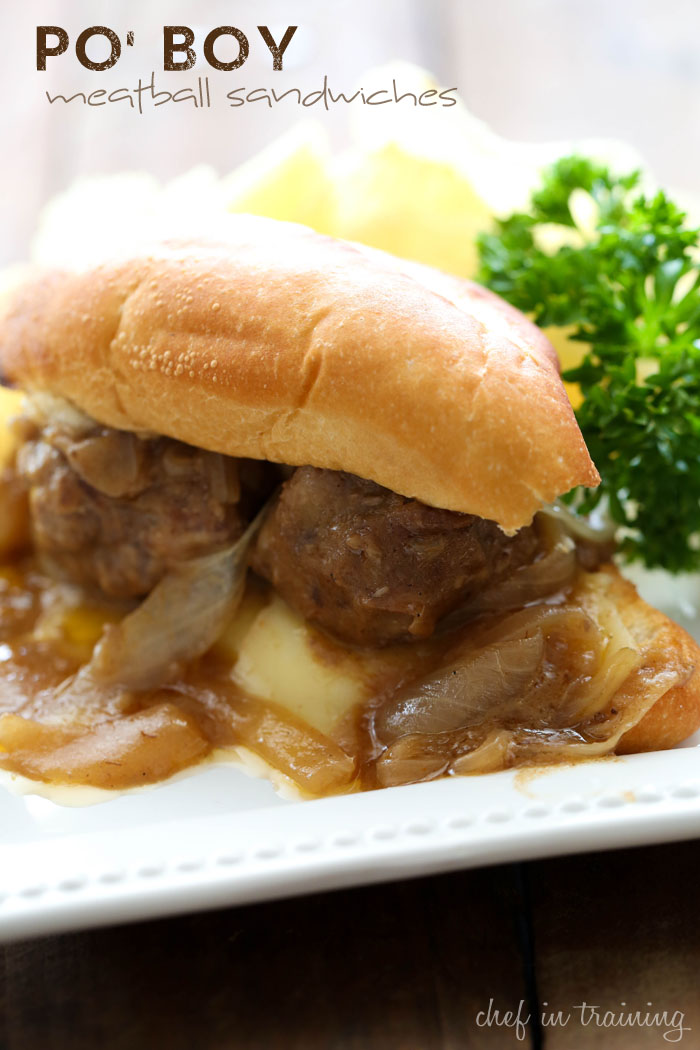 Po' Boy Meatball Sandwiches... this recipe is PACKED with flavor! If you love garlic, you will absolutely LOVE this recipe!