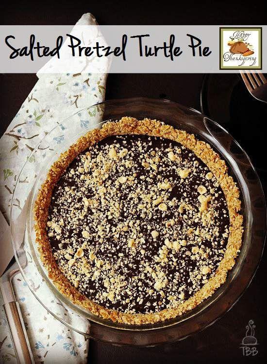 Salted Pretzel Turtle Pie