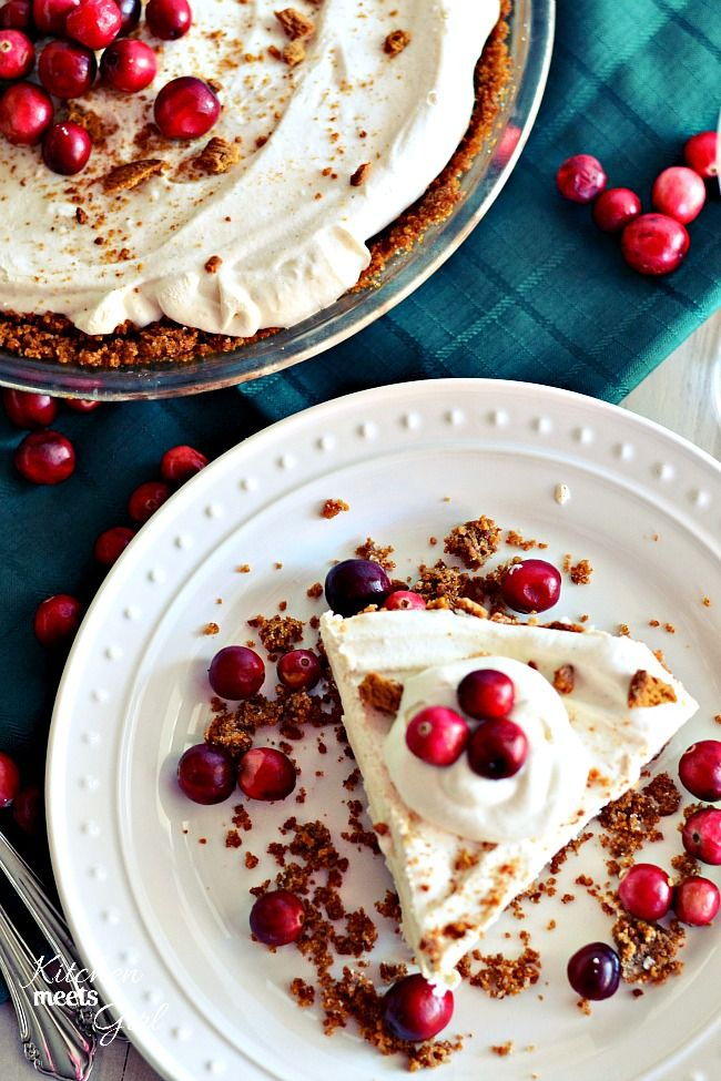 Skinny Eggnog Pie (With a Gingersnap Crust)
